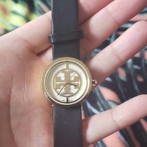 TORY BURCH Black Gold Signature Watch